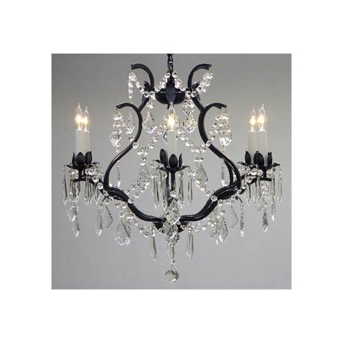 Maria Theresa 6 Light Crystal Chandelier