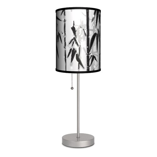 "Lamp-In-A-Box Artist Budi Satria Kwan ""Bamboo Forest"" 20"" H Table Lamp with Drum Shade"