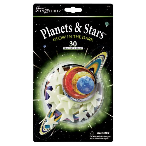 University Games Great Explorations Glow in Dark Planets and Stars