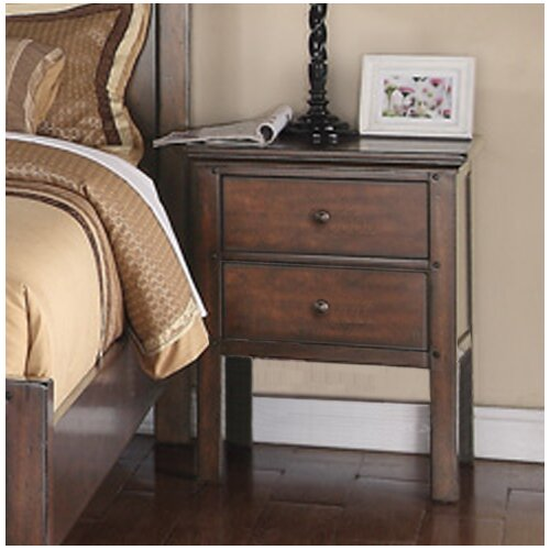Forest Cove 2 Drawer Nightstand