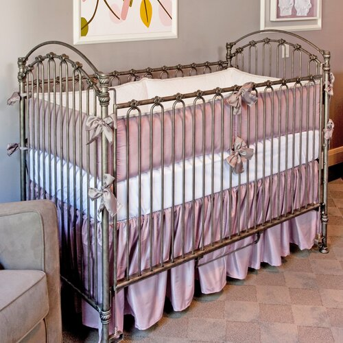 Lavender Silk 3 Piece Crib Bedding Set