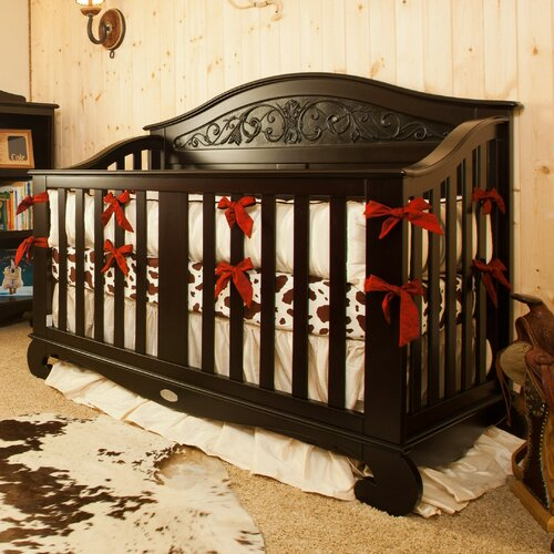 Western Silk 3 Piece Crib Bedding Set with Bows