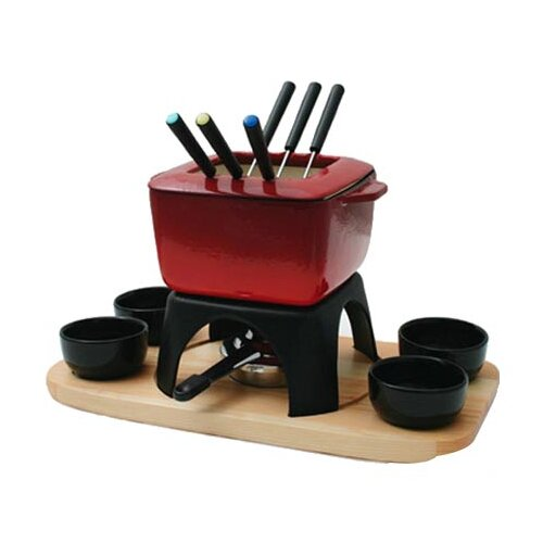 Mont Blanc 15 Piece Meat Fondue Set in Red