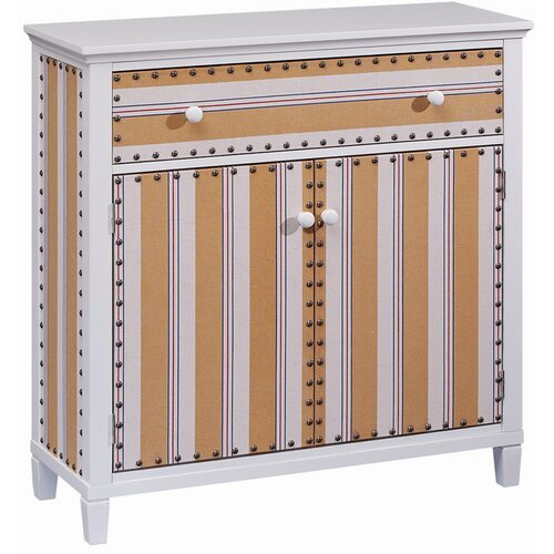 Cabana Stripe 2 Door and 1 Drawer Cabinet