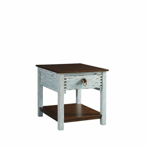 Tamarind Country Coastal End Table