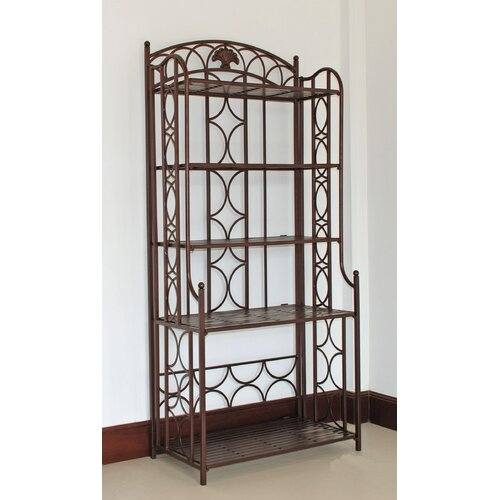 International Caravan Charleston 5-Tier Indoor/ Outdoor Bakers Rack