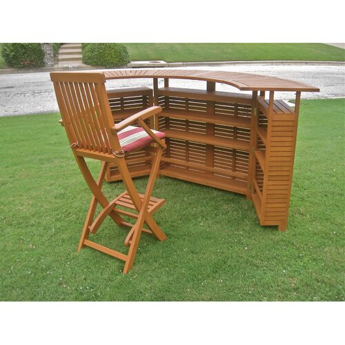 International Caravan Royal Tahiti Outdoor Patio Sectional Bar Table