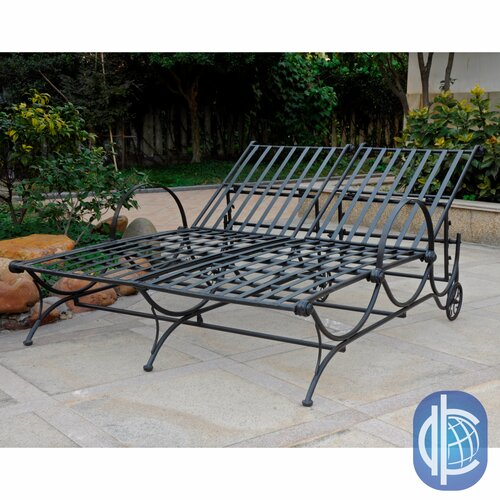 Mandalay Iron Multi-Position Double Patio Chaise Lounge
