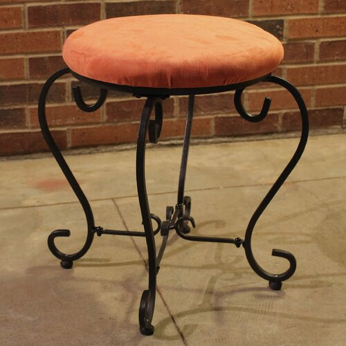 International Caravan Cambridge Round Iron Vanity Stool