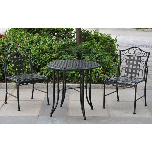 caravan mandalay 3 piece patio bistro set reviews wayfair