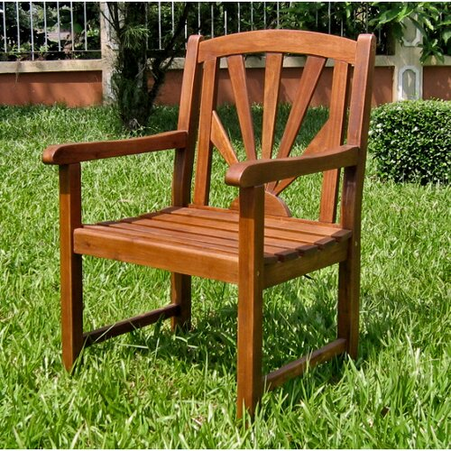 International Caravan Acacia Patio Sapporo Patio Dining Arm Chair
