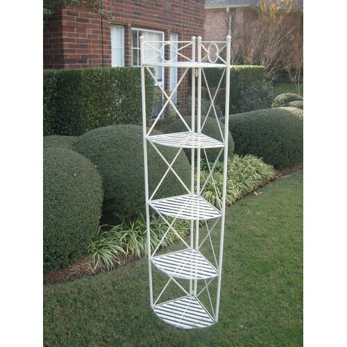 5-Tier Folding Wrought Iron Folding Bakers Rack