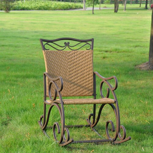 International Caravan Valencia Outdoor Wicker Patio Rocking Chair