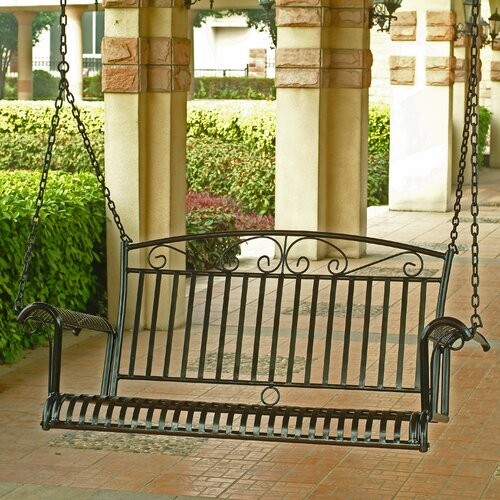 Tropico Wrought Iron Hanging Porch Swing