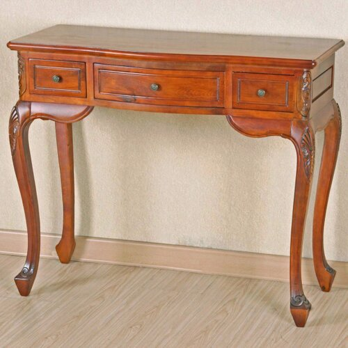 Windsor Hand Carved Wood Vanity Console Table