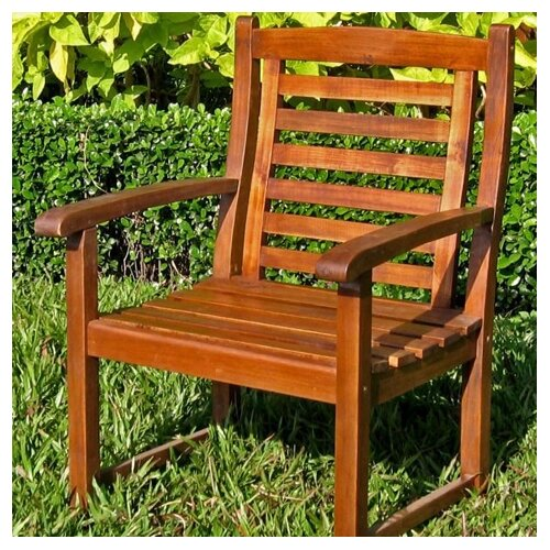 International Caravan Acacia Patio Trinidad Dining Arm Chair