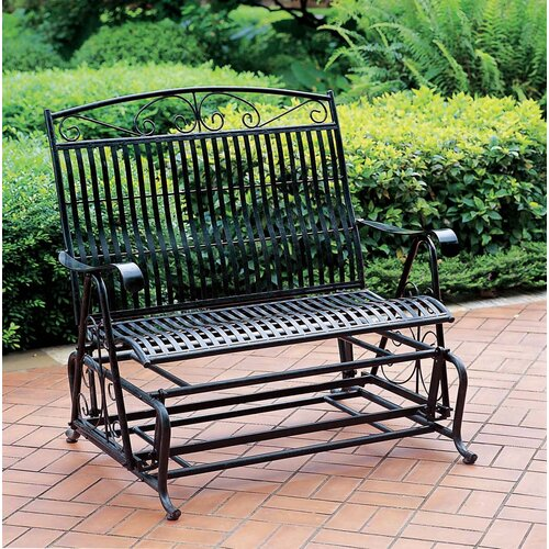 International Caravan Tropico Iron Double Patio Glider Bench