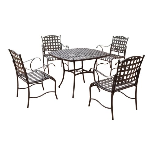 International Caravan Santa Fe 5-Piece Iron Patio Dining Set