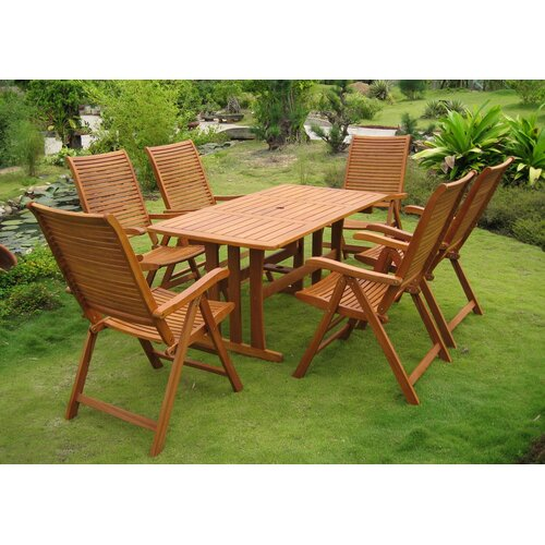 International Caravan Royal Tahiti Granada 7 Piece Dining Set