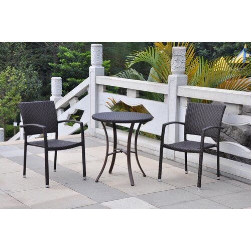 international caravan barcelona 3 piece aluminum patio bistro set