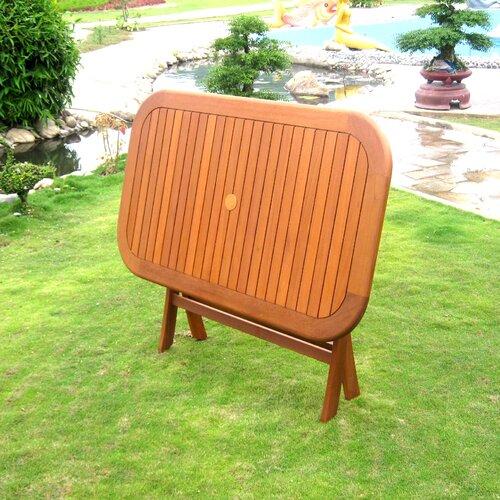International Caravan Royal Tahiti Balau Folding Patio Dining Table
