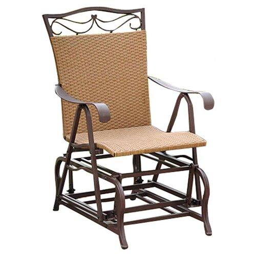 International Caravan Valencia Outdoor Wicker Single Glider Chair & Revie