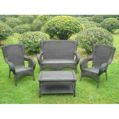 International Caravan San Tropez 4 Piece Lounge Seating Group