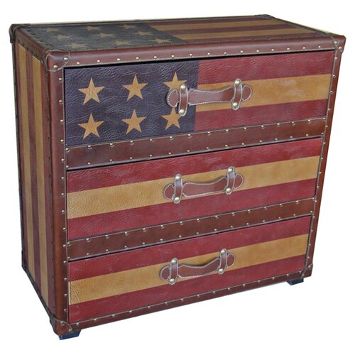 International Caravan Americana 3 Drawer Chest