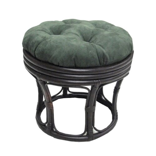 Blazing Needles 18-inch Papasan Footstool Cushion