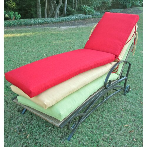 blazing needles outdoor patio chaise lounge replacement cushion