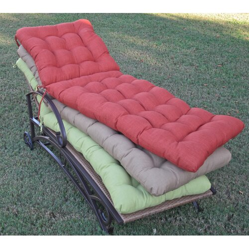 All-Weather UV-Resistant Tufted Patio Chaise Lounge Cushion