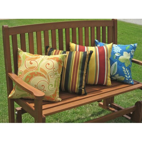 Blazing Needles Mix Pattern Outdoor Throw Pillow
