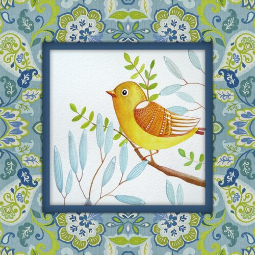 Little Yellow Bird Graphic Art on Canvas