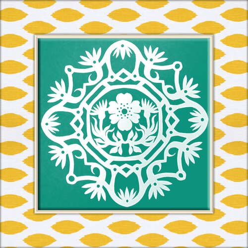 Cutout Ornament Graphic Art on Canvas in White