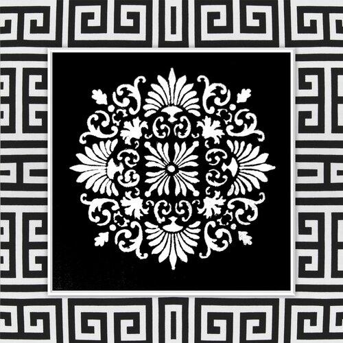 Pattern Graphic Art on Canvas