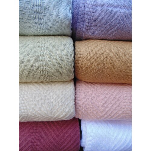 Cozy Fleece Egyptian Cotton Herringbone Blanket