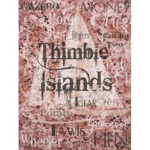 Connecticut Thimbles - Thimble Islands Textual Art on Canvas