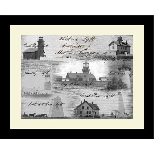 Lighthouse Historic Lights Nantucket and Martha's Vineyard Framed Photographic Print