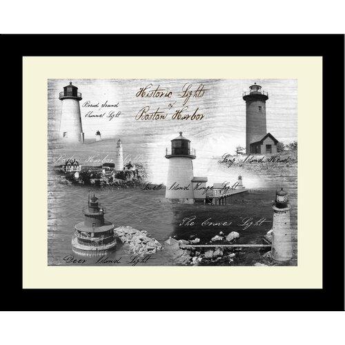 Lighthouse Historic Lights Boston Harbor Framed Photographic Print