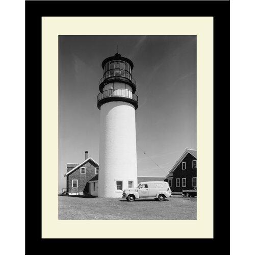 Lighthouse Vintage Highland Light Framed Photographic Print