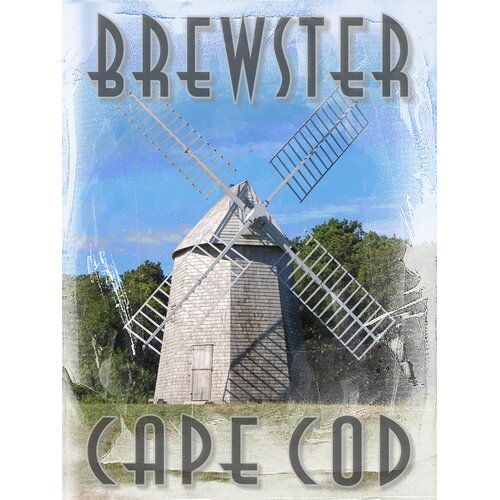 Cape Cod Higgin's Farm Windmill - Brewster Photographic Print on Canvas