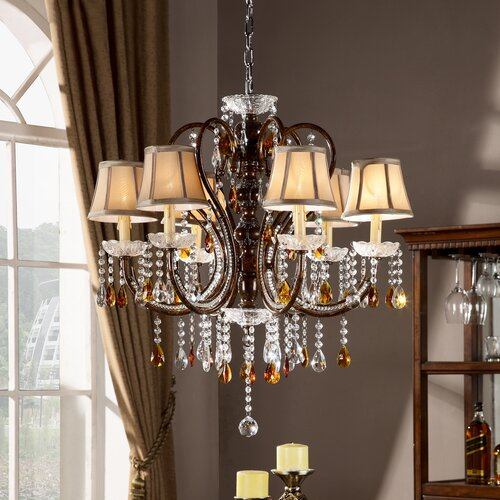 Cortona 6 Light Crystal Chandelier