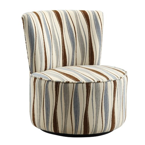 Alfosa Vertical Wavy Stripe Print Swivel Accent Chair