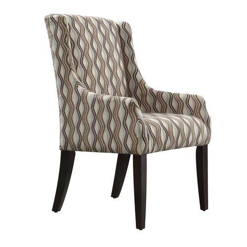 Mandala Wavy Stripe Print Sloped Arm Chair