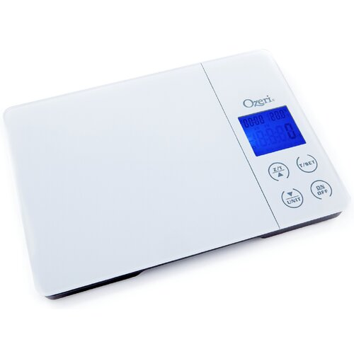 Gourmet Digital Kitchen Scale with Timer, Alarm and Temperature Display