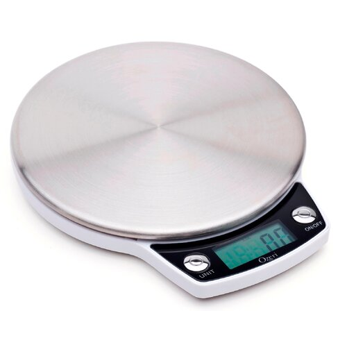 Precision Pro Stainless-Steel Digital Kitchen Scale with Oversized Weighing Platform