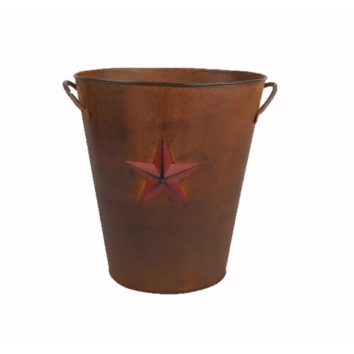 Country Star Tin Waste Basket