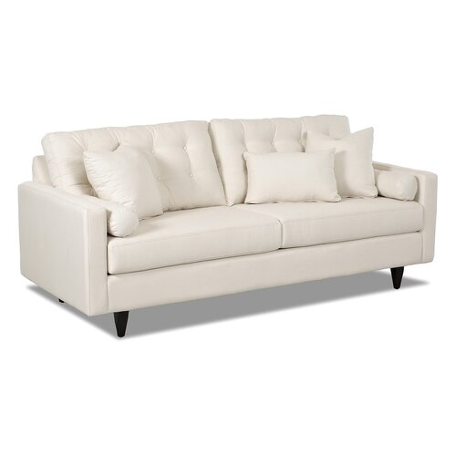 Wayfair custom upholstery harper sofa reviews wayfair for White sectional sofa wayfair