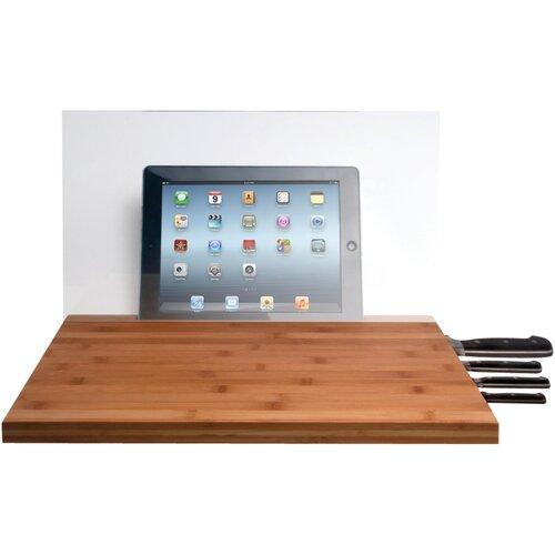 Mini Cutting Board with Screen Shield and Knife Storage for iPad Air/iPad with Retina ...