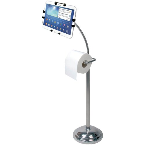Pedestal Stand with Roll Holder for iPad Air/iPad and Retina Display/iPad 3rd Gen/iPad 2/Tablet